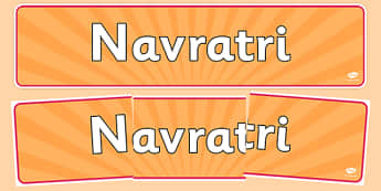 Navratri Display Banner - navaratri, display banner, display, banner