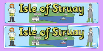 Isle of Struay Display Banner to Support Teaching on Katie Morag - Katie Morag, Isle Of Struay, Scotland, display, banner, poster, sign, island, home, Scottish stories