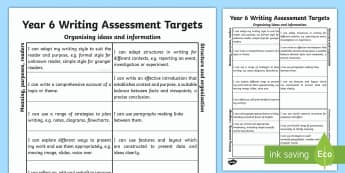Year 6 Writing Assessment Colouring in Targets A4 Display Poster - Literacy and Numeracy Framework in Wales, Wales, LNF, NLF, Literacy, Writing Targets, Writing, Year