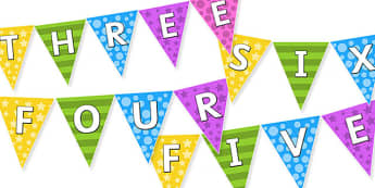 KS2 Welcome to Year Group Multi-coloured Display Bunting Pack