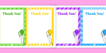 8th Birthday Party Thank You Notes - 8th birthday party, 8th birthday, birthday party, thank you notes