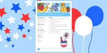 4th of July Smoothie Recipe - usa, america, 4th of july, independence day, smoothie recipe