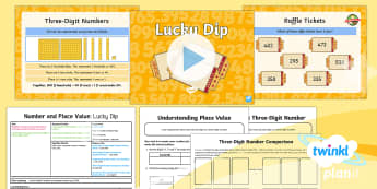 PlanIt Y3 Number and Place Value Lesson Pack Place Value (3) - Number and Place Value, multiples, times tables, steps of, counting on, problem solving, maths maste
