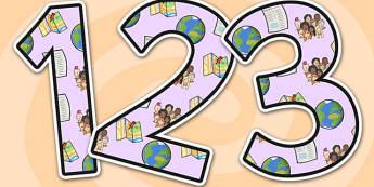 Global Issues Display Numbers-global issues, display numbers, numbers for display, numbers, display, numeracy, numeracy display, maths, world issues