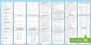 Year 2 Maths Multiplication and Division Homework Activity Pack - KS1 Maths Homework Packs, multiplication, division, times, divide, share, multiply