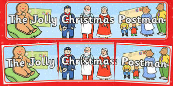 Display Banner to Support Teaching on The Jolly Christmas Postman - the jolly christmas postman, display banner, the jolly postman display banner, christmas display banner