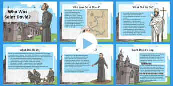 Saint David PowerPoint - Dewi Sant (St David's Day 1.3.17), david, saint, st david, 1st march, daffodil, leek, st davids, ca