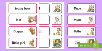 Word Cards to Support Teaching on Dogger - card, words, writing, literacy, visuals