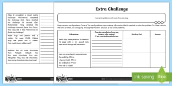 Missing Information Word Problems Activity Sheet - uks2, problem solving, maths mastery, solve problems, Addition, Subtraction, Multiplication and Divi