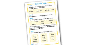 Dictionary Skills - dictionary skills, dictionary, book, how to use, skill
