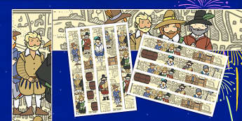The Gunpowder Plot Display Borders - Display border, bonfire night, classroom border, border, Guy Fawkes, bonfire, Houses of Parliament, plot, treason, fireworks, Catholic, Protestant, James I