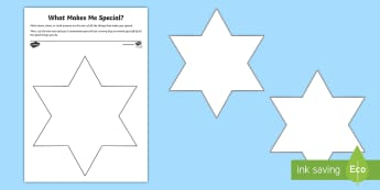 What Makes Me Special? Activity Sheet - emotion, self-esteem, families, young people, transition, bereavement