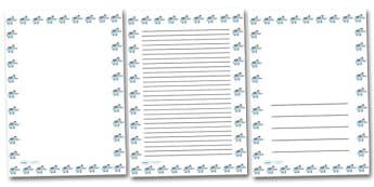 Elephant Landscape Page Borders- Landscape Page Borders - Page border, border, writing template, writing aid, writing frame, a4 border, template, templates, landscape