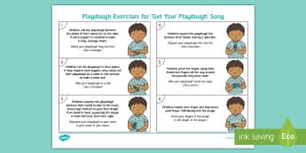 EYFS We Love Playdough Playtime Adult Guidance - Playdough Play, dough disco, finger gym, fine motor skills, physical development