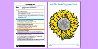 EYFS Sunflower Seed Dot EYFS Busy Bag Plan and Resource Pack - flower, flowers, paint, cotton bud, fibonacci, spiral, golden angle, golden ratio