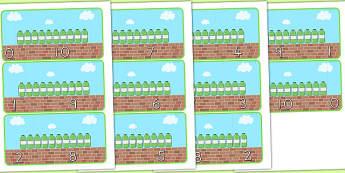Ten Green Bottles Number Bonds to Ten - australia, number, bonds