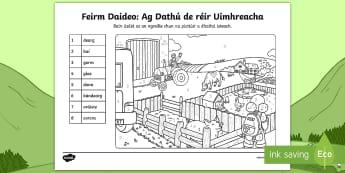 Bileog Oibre: Ag Dathú de réir Uimhreacha - Aistear, Téamaí Aistear, Aistear Themes, Naíonáin, Infants, Gníomhaíochtaí Aistear, Aistear A