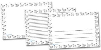 Horse Landscape Page Borders- Landscape Page Borders - Page border, border, writing template, writing aid, writing frame, a4 border, template, templates, landscape
