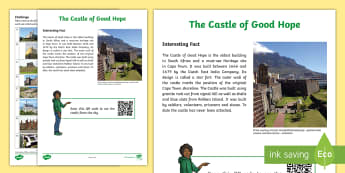 The Castle of Good Hope Activity Sheet - amazing fact a day, castles, castle types, castles through the ages, Cape Town, Castle of Good Hope,