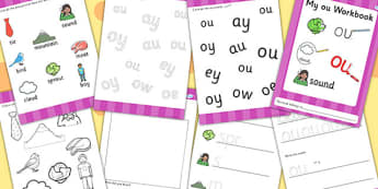 Phase 5 ou Grapheme Workbook - phase five, graphemes, literacy