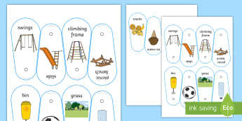 Going to the Park Communication Fan - park, playground, communication support, communication board, core board, play