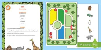 Zoo Sensory Bag - zoo, animals, sensory play, fine motor, busy bag
