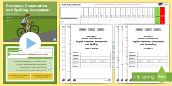 SATs Survival Year 6: Grammar, Punctuation and Spelling Test 1  Bumper Assessment  Resource Pack - Year 6 SPaG Guided Lesson PowerPoints and Packs, Year 6, SATs, Y6, revision, SPaG, GPs, grammar, pun