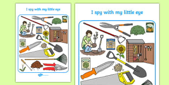 Gardening Themed I Spy With My Little Eye Activity Sheet - i spy with my little eye, i spy, activity, gardening, worksheet