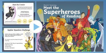 Bloom Superheroes - Grizzly Girl PowerPoint - Blooms Taxonomy, Comprehension, During Reading, After Reading, Guided Reading HOTS, Higher Order Thi