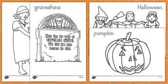 Halloween Colouring Pictures - ESL Halloween Resources