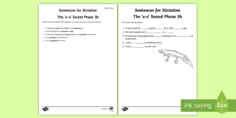 Northern Ireland Linguistic Phonics Stage 5 and 6, Phase 3b, 'u-e' Dictation Sentences Activity  - Linguistic Phonics, Stage 5, Stage 6, Phase 3a, Phase 3b, Northern Ireland, sentences, dictation, wo
