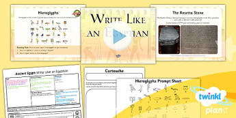 PlanIt - History LKS2 - Ancient Egypt Lesson 5: Write Like an Egyptian Lesson Pack