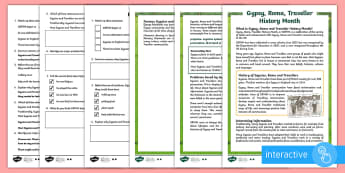 KS2 Gypsy, Roma and Traveller History Month Differentiated Comprehension Go Respond  Activity Sheets - KS2 GRTHM, Gypsy, Roma, Traveller, History Month, differentiated reading activity, multiple choice,