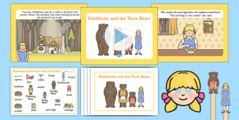 Goldilocks and the Three Bears Listen and Retell Oral Language Activity Pack - retelling, speaking, communicating, exploring, using, understanding, new language curriculum, story,