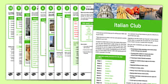 Italian Club Guidance and Plans for Teachers