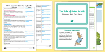 EYFS The Tale of Peter Rabbit Discovery Sack Plan and Resource Pack - Beatrix Potter, Peter Rabbit, rabbits, rabbit story, eyfs, early years, reception, nursery