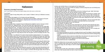 Halloween Assembly Script - Halloween, assembly, convocation, script, ideas