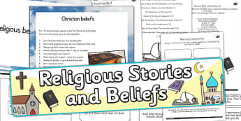 Religious Stories and Beliefs Resource Pack - religion, RE