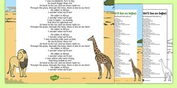I Wonder What We'll See on Safari Song