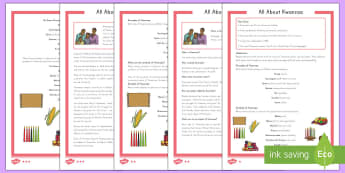 All About Kwanzaa Differentiated Reading Comprehension Activity - Kwanzaa reading comprehension, reading, comprehension, celebration, African, American