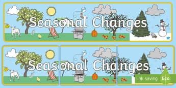 Seasonal Changes Display Banner - seasons, season changes, banner
