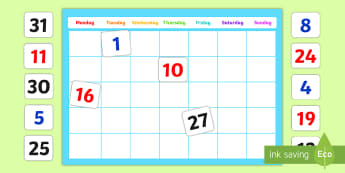 A2 Editable Calendar Display Pack - ready made, display, pack