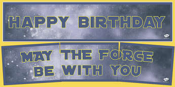 Space Wars Party Wall Banners - space wars, star wars, party, birthday, wall, banners, display