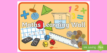 Maths Learning Wall Display Poster - maths, learning wall, learning, wall, display poster, display, poster, mathematics