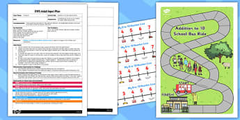 Addition to 10 Bus Board Game EYFS Adult Input Plan and Resource Pack
