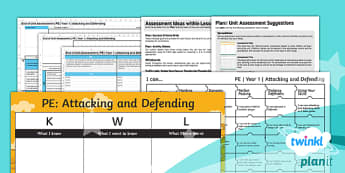 PE: Attacking and Defending Year 1 Unit Assessment Pack
