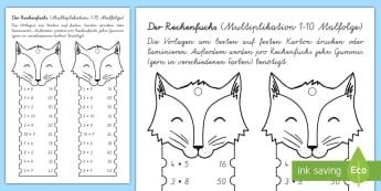 Der Rechenfuchs das kleine 1x1 Mathe Profi- Aufgaben - Mathematik: Zahlen, Rechnen, 1x1, Multiplikation, maths, numbers, counting, times tables, multiplica