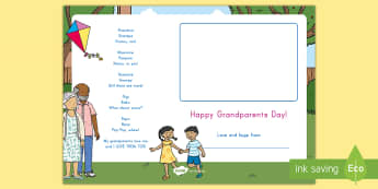 Grandparents Day Poem and Keepsake Craft - Grandparents Day, Grandparent's Day, Grandparents Poem, Grandma And Grandpa, All About Me, My Famil