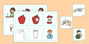 3 Step Sequencing Cards - 3 step, sequencing, cards, sequence