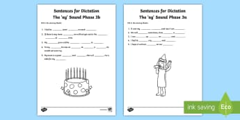 Northern Ireland Linguistic Phonics Stage 5 and 6, Phase 3a and 3b, 'ay' Dictation Sentences Activity - Linguistic Phonics, Stage 5, Stage 6, Phase 3a, Phase 3b, Northern Ireland, sentences, dictation, wo